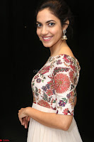 Ritu Varma smiling face Cream Anarkali dress at launch of OPPO New Selfie Camera F3 ~  Exclusive 035.JPG