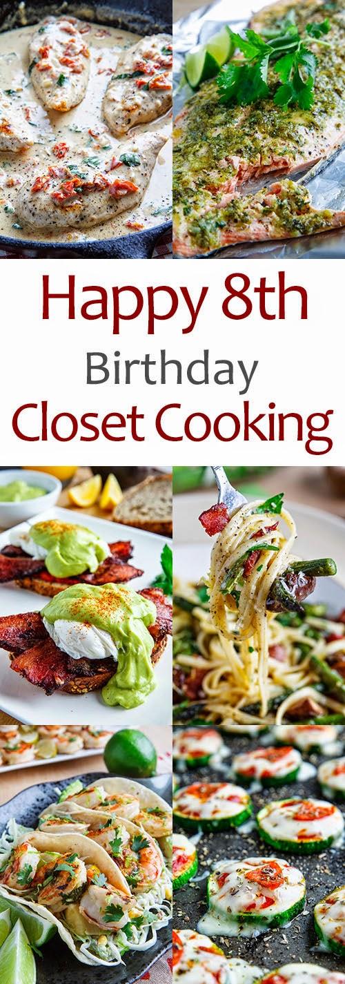 Happy 8th Birthday Closet Cooking