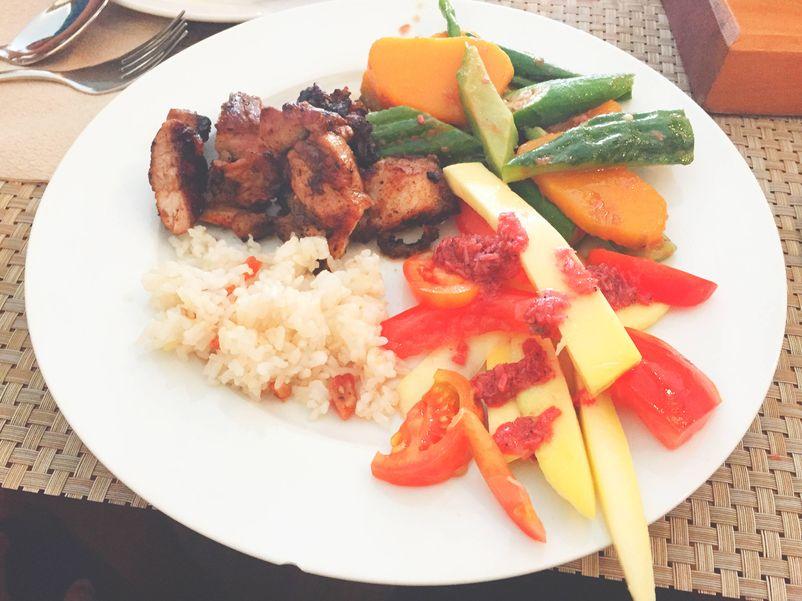 The food at Club Balai Isabel