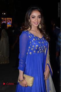 Telugu Actress Tejaswi Madivada Pos in Blue Long Dress at Nanna Nenu Na Boyfriends Audio Launch  0068.JPG