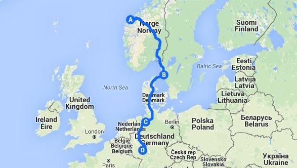 kart over rhindalen Bobilturer i inn og utland.: Sommerferien 2015 ,del 1 : Ålesund  kart over rhindalen