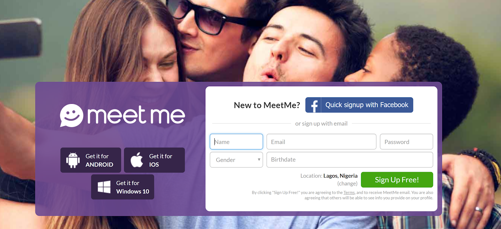 Create Meetme Account Here Online