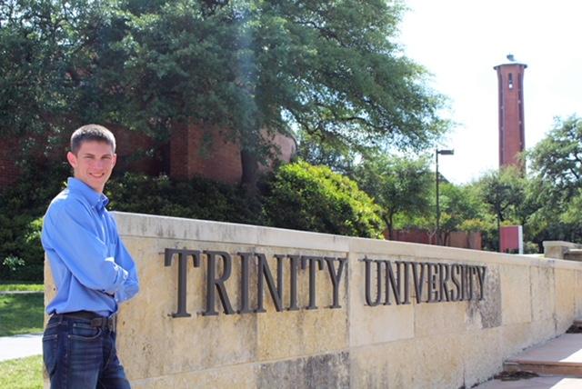 Trinity University freshman Landry Rohde