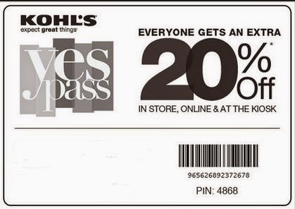 kohls coupons 2018