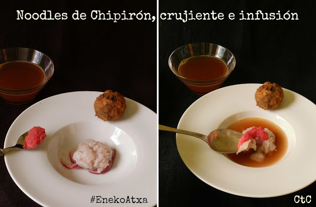 Noodles de Chipirón, crujiente e infusión - April's Kitch