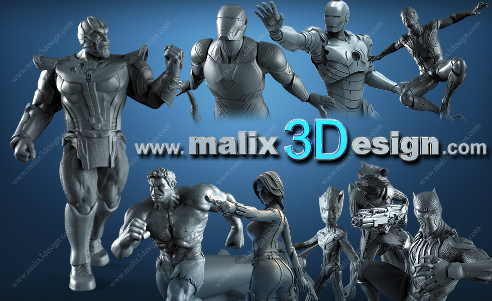 set avengers infinity war for 3d printing