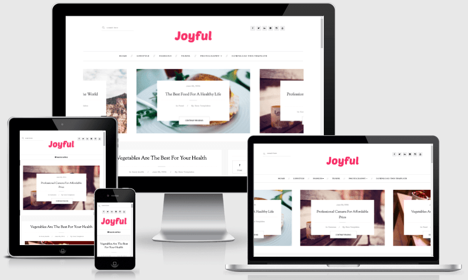 Download JoyFul Responsive Fashion Blogger Template