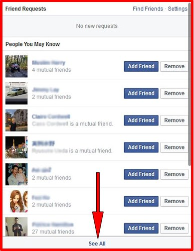 how to find your friends friends on facebook