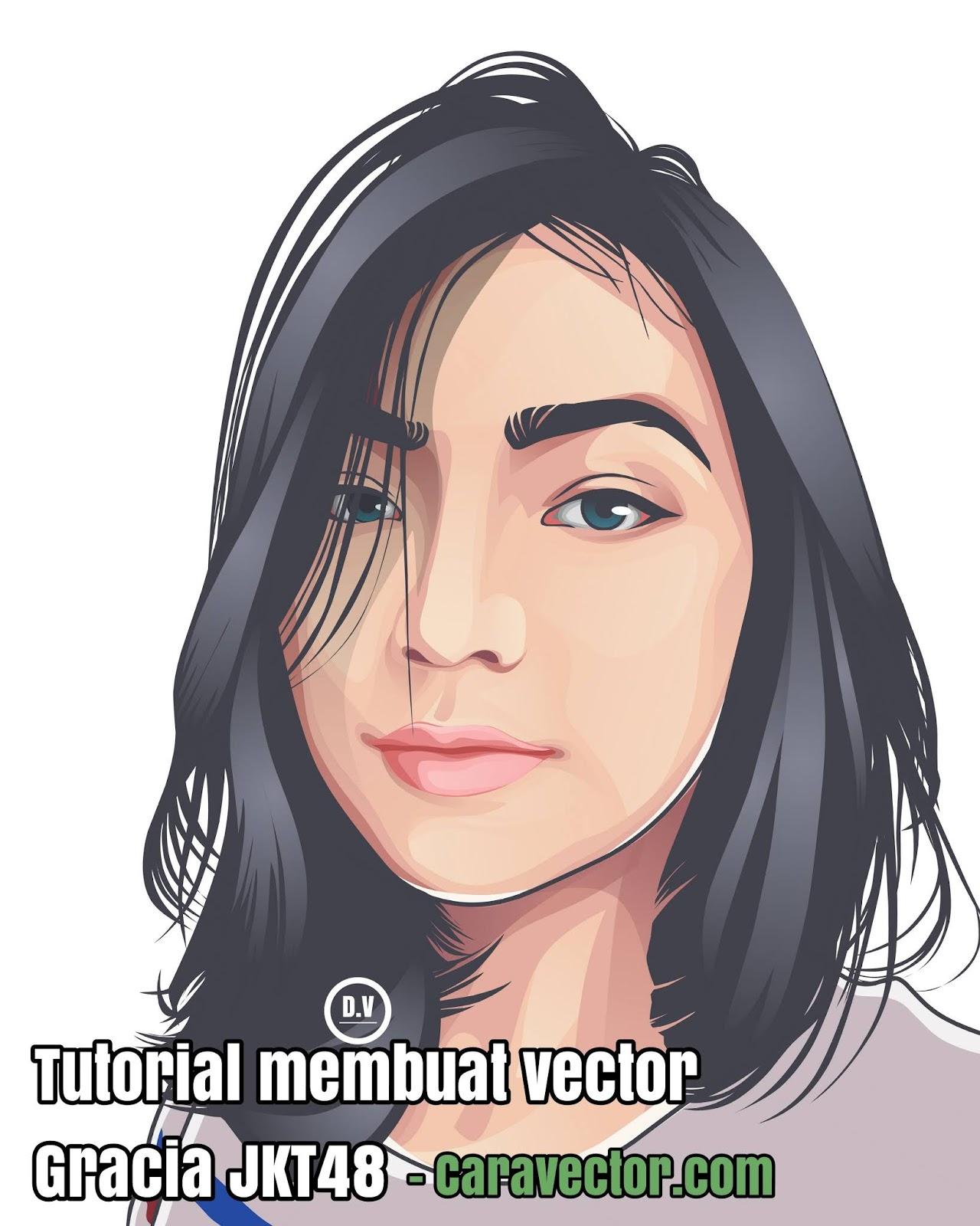 Tutorial Membuat Vector Gracia JKT48 Di Infinite Design