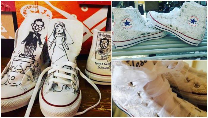 Scarpe Personalizzate Sposa.Sposine Il Blog Della Sposa Sneakers Personalizzate Per Gli