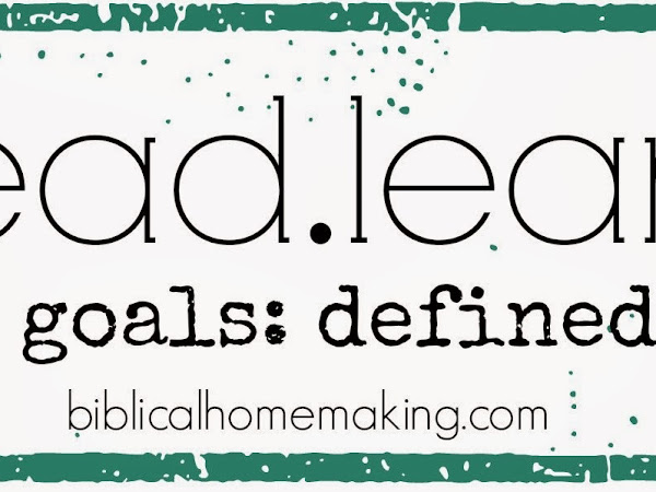 do, read, learn, be goals + menu plans this week
