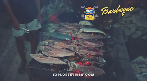 barbeque di open trip atau private trip pulau harapan