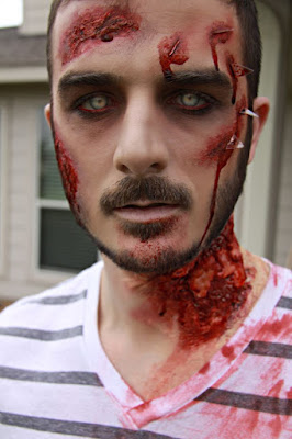 Halloween Zombie Simple Make Up Ideas For Men