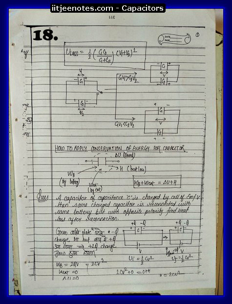 Capacitors notes iitjee3