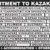 RECRUITMENT TO KAZAKHSTAN