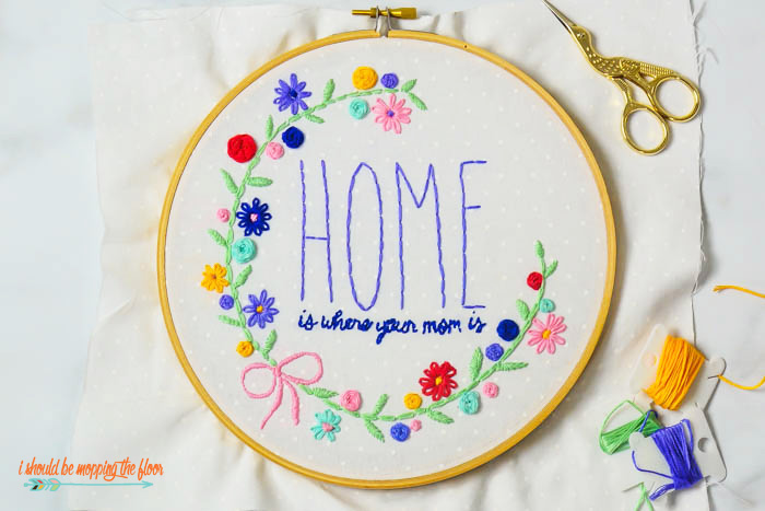 Hoop Pattern for Mom