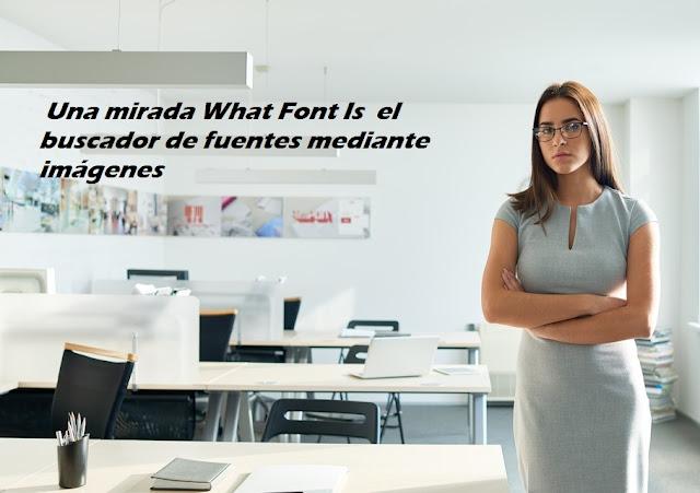 Una mirada What Font Is  el buscador de fuentes mediante imágenes