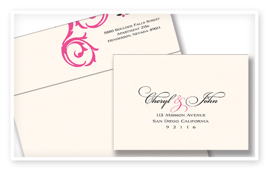 Wedding Invitations With Response Cards And Envelopes: JW Impressions