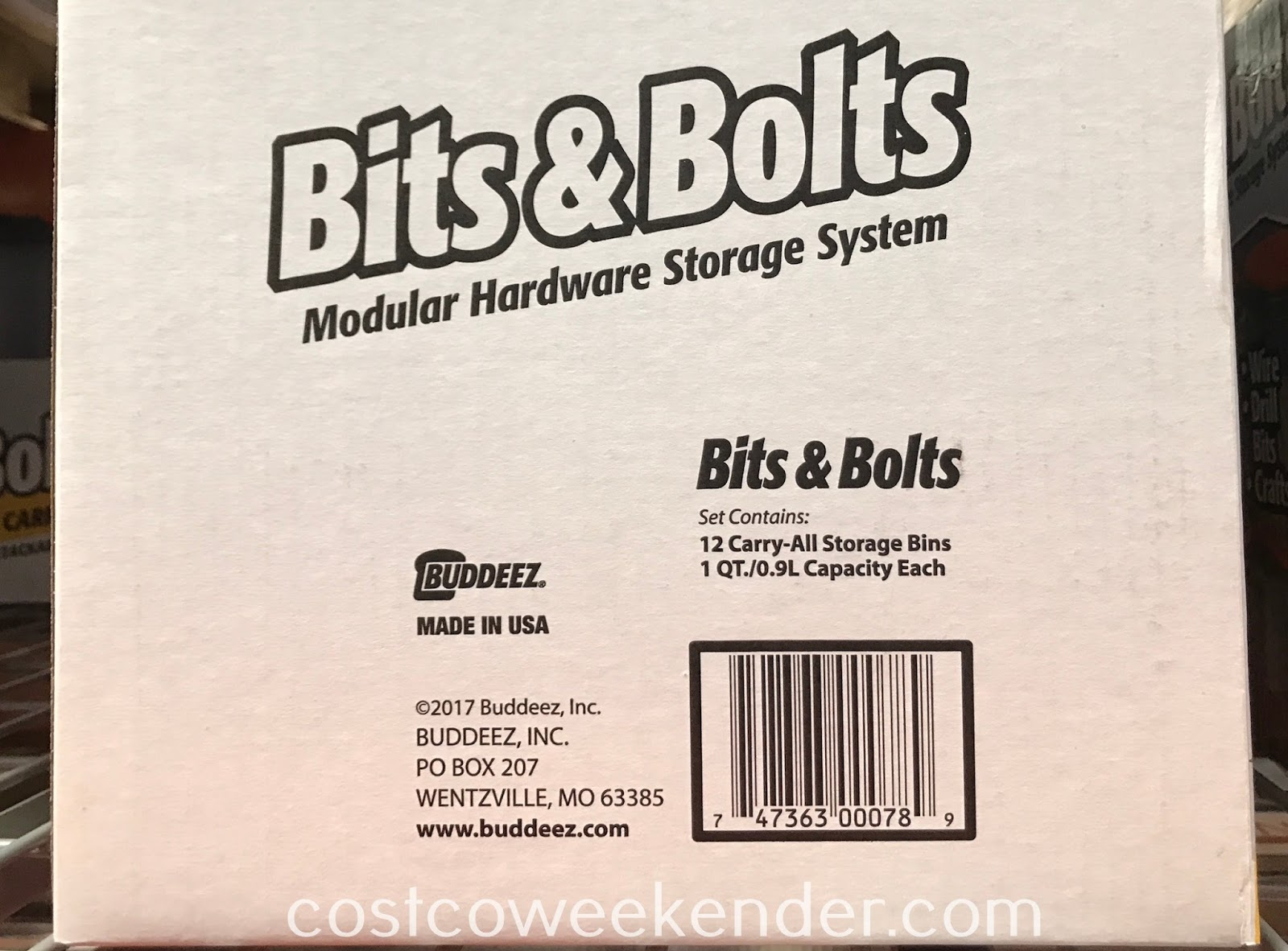 Buddeez Bits & Bolts Carry-All Storage Bins are stackable and come in a pack of 12