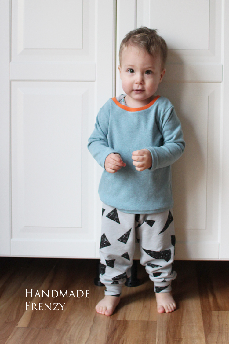 Brindille & Twig Cuff Pants + Titchy Threads Rowan Tee // Sewing For Boys