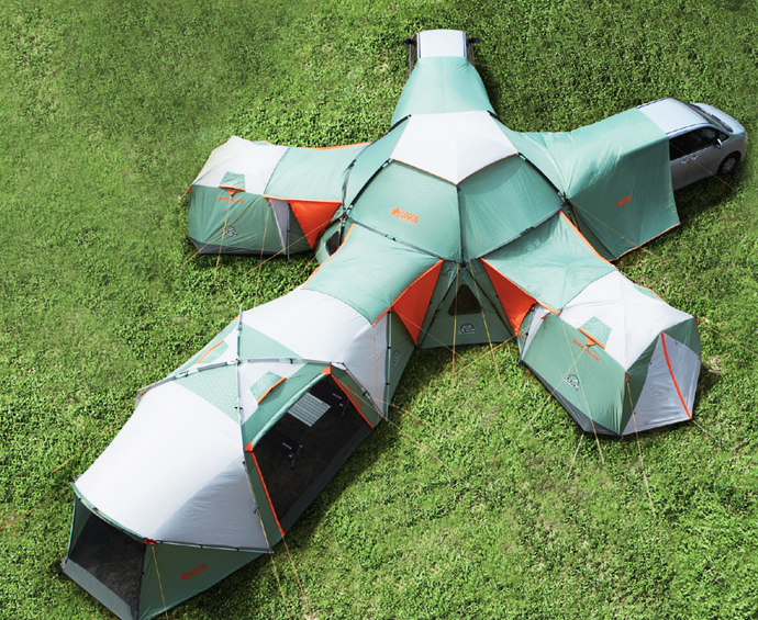 The pentagonal tent is the basic module and it can accept five more modules on each of its sides while the Decagon Modular tent can extend from a three ... & Awesome 16-Person Tent With Dining Area u0026 Car Port Will Change The ...