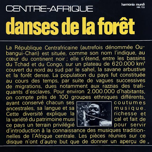 #Central African Republic #République Centrafricaine #CAR #Simha Arom #African music #Musique Africaine #traditional music #world music #Ba-Benzele Pygmies #trance #ceremony #ritual #ceremony #magic #Dakpa #Banda #Gbannou Langba #Dendi #Lito #Mandja #Ngkaba #Rounga #Sabanga