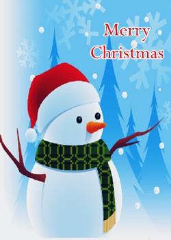 Funny Snowman DP