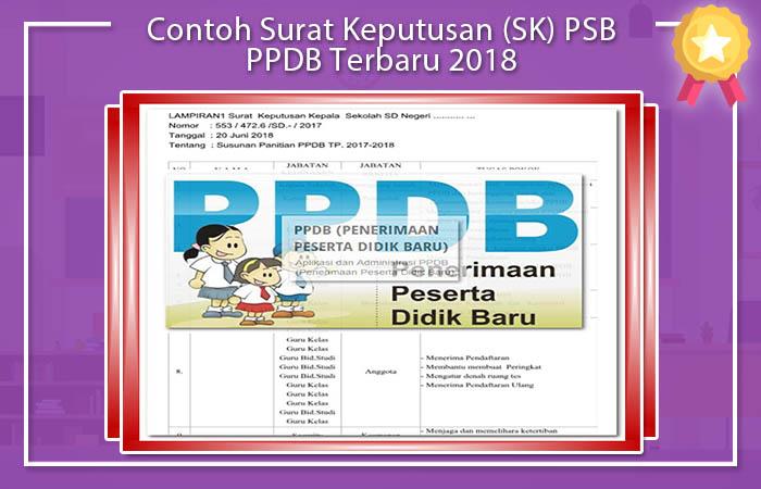 Contoh Surat Keputusan (SK) PSB PPDB Terbaru 2018