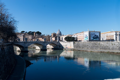 View of Saint peters from the Tiber river