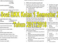 Soal UKK Kelas 1 Semester 2 Tahun 2017/2018