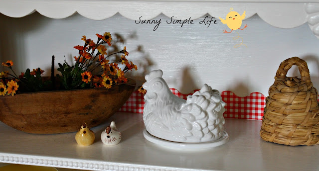 farmhouse, vintage kitchen, chicken decor, gingham