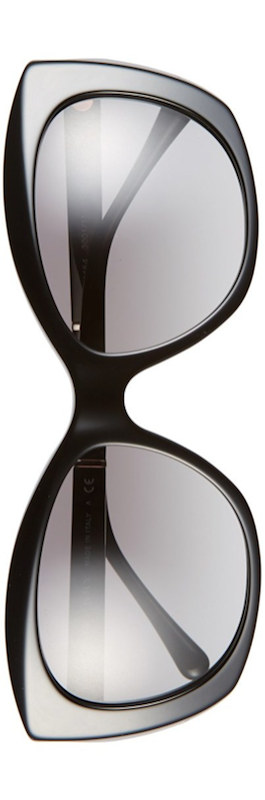 Burberry 55mm Sunglasses  shown in Black