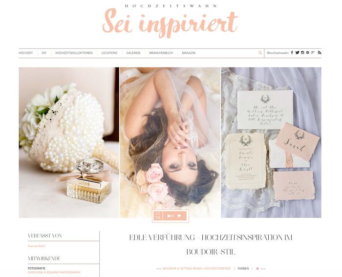 Boudoir Inspiration im Blog Hochzeitswahn