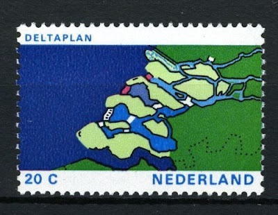 Netherlands Deltaplan stamp issue from 1972