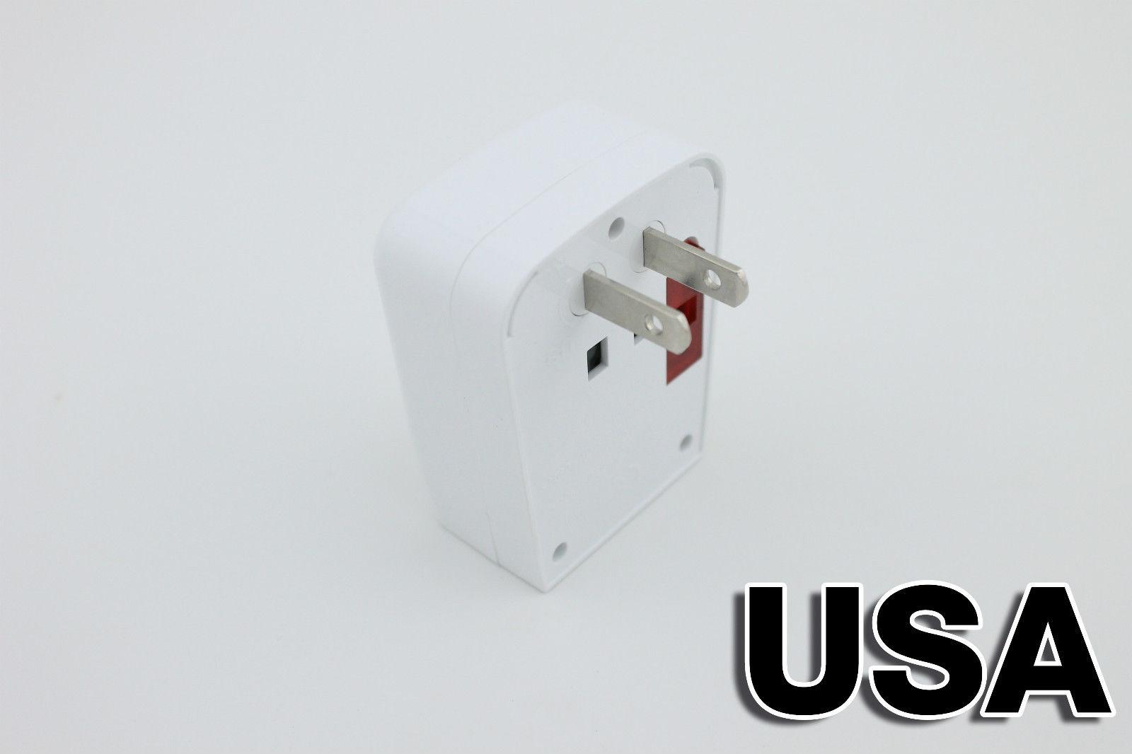 Universal World Travel Adapter Ac 2 Usb Power Us Uk Au Eu