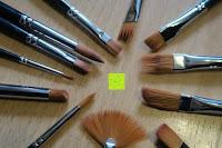 Spitzen: Pinselset Ölmalpinsel - ZWOOS 12 Stk Nylonhaar Pinselset Ölmalpinsel Künstler Aquarell Acryl Ölmalerei Flachpinsel ,Schwarz