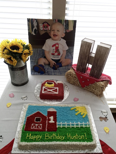 Farm Party Birthday Cake, Barn Smash Cake, Farm Cake Table