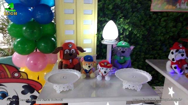 Mesa temática Patrulha Canina provençal - Festa de aniversário infantil
