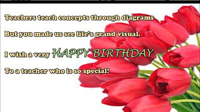 Happy Birthday Wishes For teacher: teachers teach concepts through diagrams