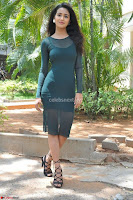 Simran Choudhary Cute beauty with dimples in transparent Green Tight Short Dress ~  Exclusive 002.jpg
