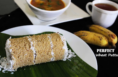 gothambu puttu with tips to make soft puttu kerala style wheat puttu indian breakfast recipes healthy breakfast