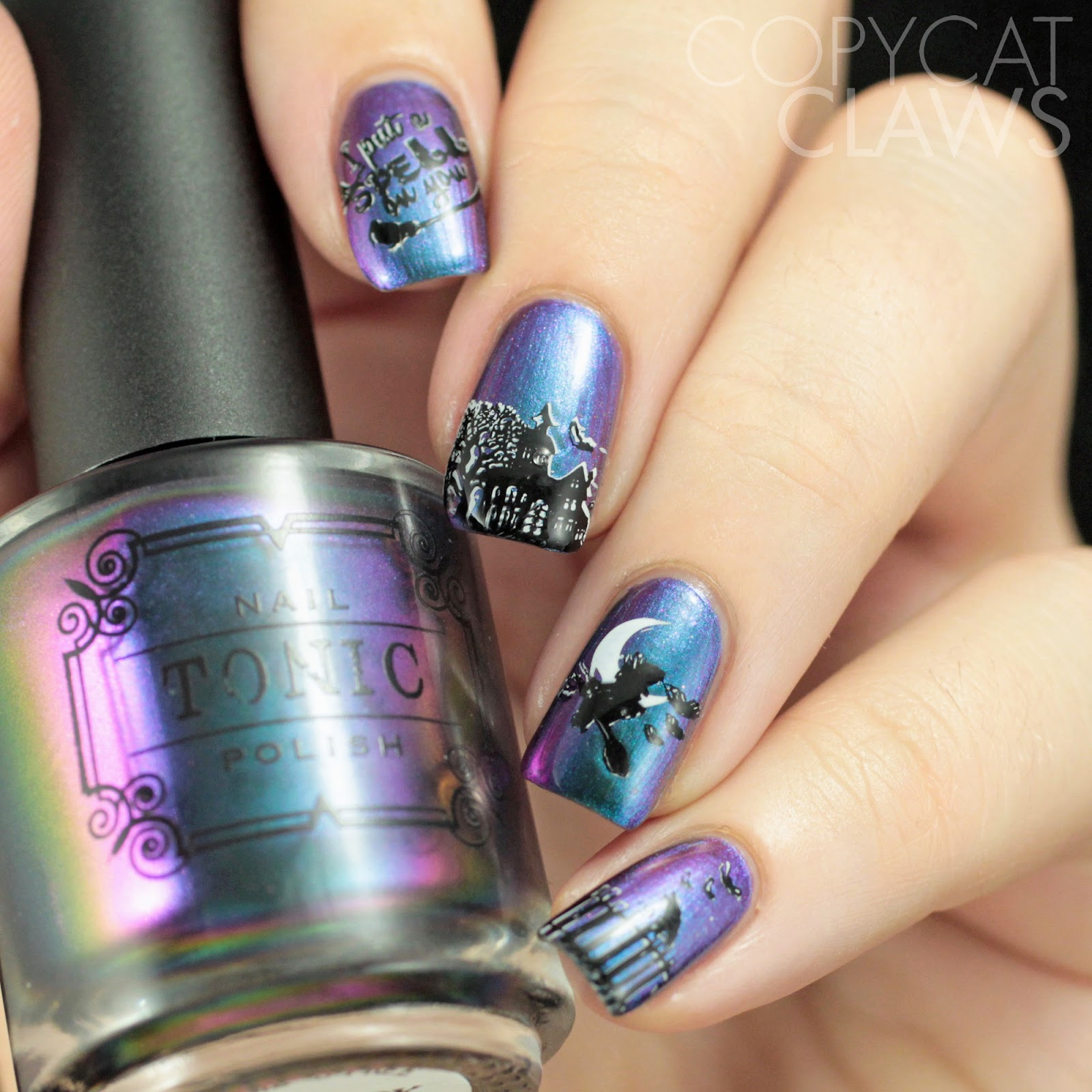 Copycat Claws: Lina Nail Art Supplies Spooklicious 01 and 02 Review