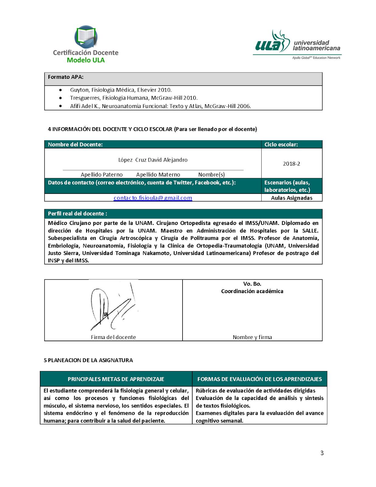 CURSO DE FISIOLOGÍA ULA