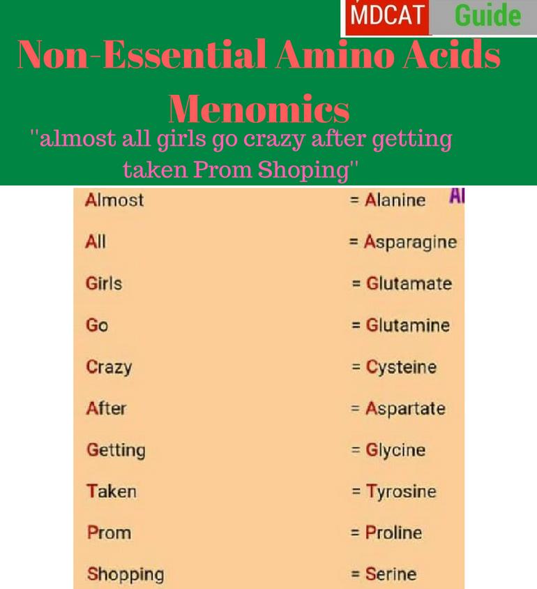 Amino Acids Mnemonics  Easy Way To Memorize