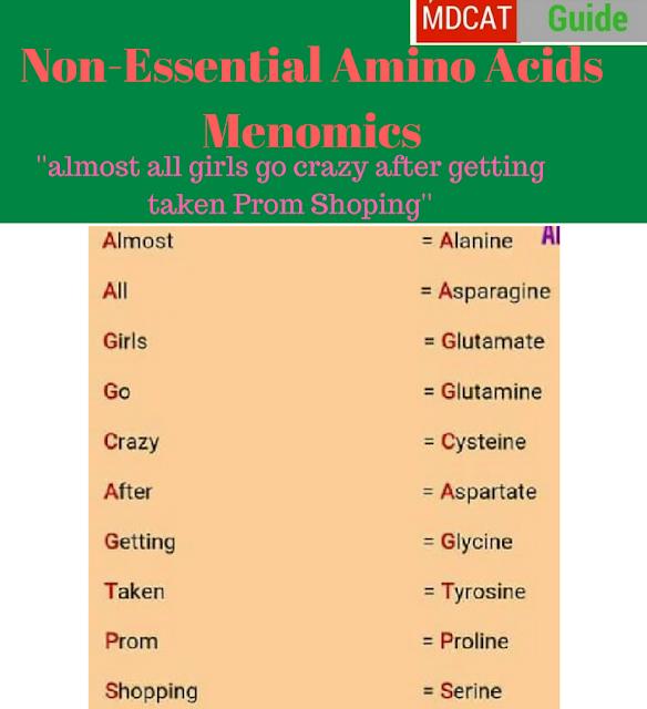 non-essential amino acids mnemonics