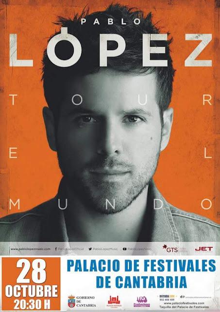 Concierto de Pablo L�pez en el Palacio de Festivales de Santander