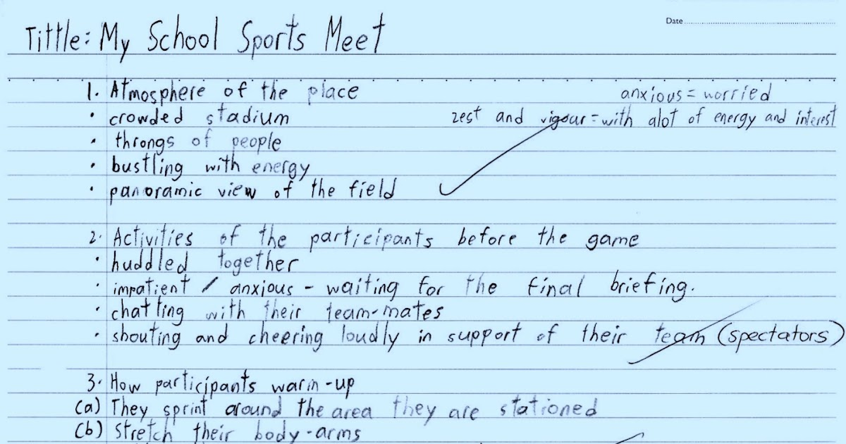 Essay on the Annual Sports held recently in your School