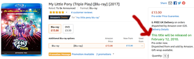 Screenshot of Amazon.co.uk showing the 12th February release date