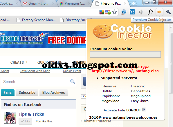 Tips & Tricks: Using Live Cookies as a premium user from