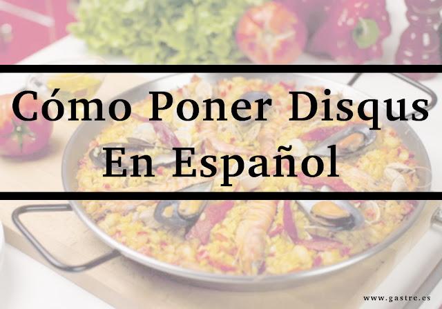 Como poner disqus en español